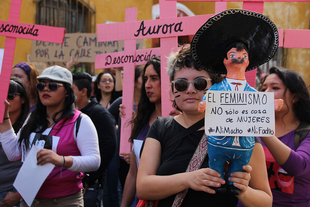 Mexican feminists declare violet spring on nationwide day of action