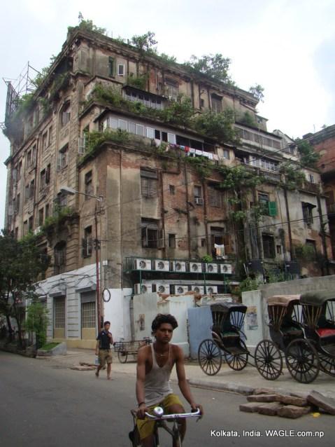 kolkata, india, old houses