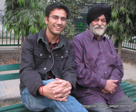 With Sardarji of Modi Pastry, Bhogal