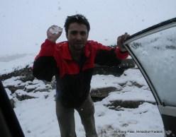 gokul dahal with snow rohtang pass himachal pradesh india