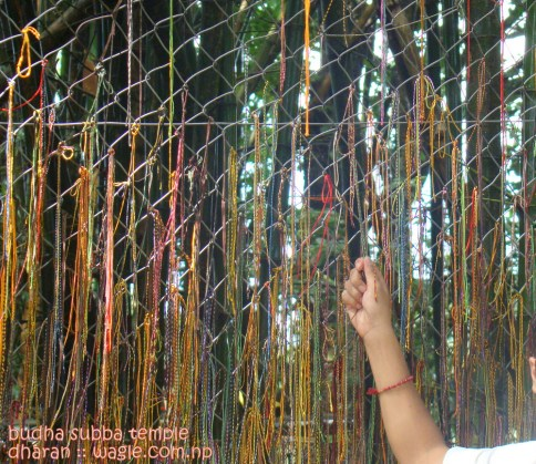 Prayer threads in Budha Subba