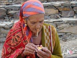 smoking woman of far west nepal2