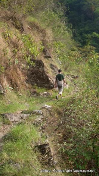 Dinesh Wagle walks