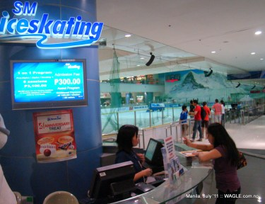 mall of asia manila, ice skating