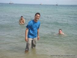 Men in water