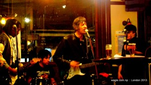 John the 'One' singer: you certainly didn't disappoint the small crowd in the pub.