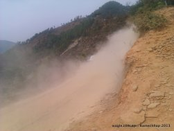 On way to Sanghutaar, from Manthali. The road is recently built and is in operation during winter only
