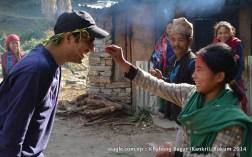 Part of Holi-like ritual to celebrate Maghi festival