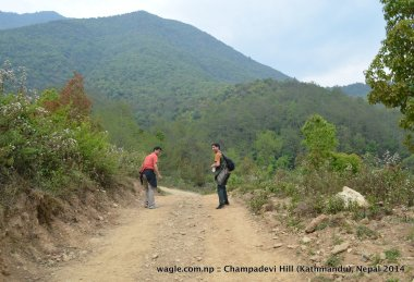 At the base of Champadevi