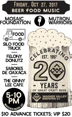 Celebrate 20 Years of Wagner Valley Brewing Co
