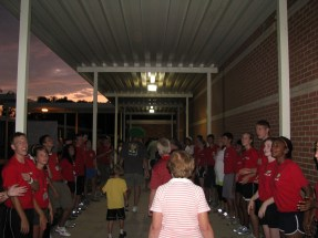 We loved the good-bye walk on Family Nights