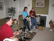 Work friends over for Rock Band Party in 2010