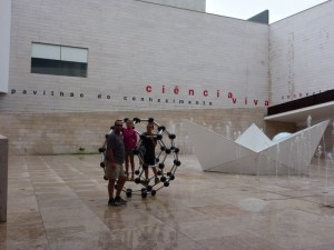 Lisbon Portugal Playing outside the Science Museum