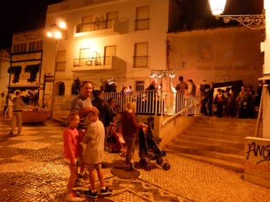 Roaming around old town Albufeira Portugal