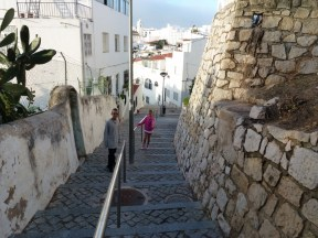A hundred steps in Albufeira Portugal