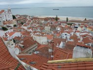 Rooftops in Lisbon Portugal