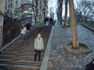 Up the stairs to Sacre Couer