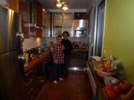Lars cooking with Grandma