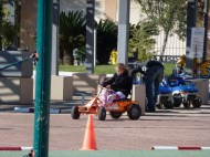 Down time was racing around in carts
