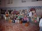 One of the singing groups (with a voodoo doll?)