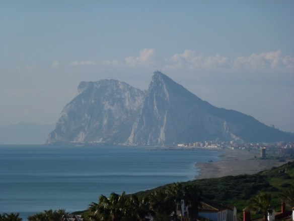 Gibraltar from our hotel