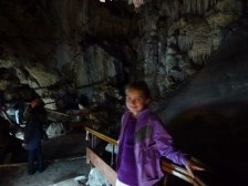 Anya enjoying the caves