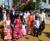 Families dressed to impress