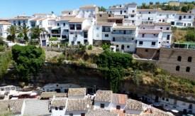 Houses built under and into the cliffs - Setenil de las Bodegas