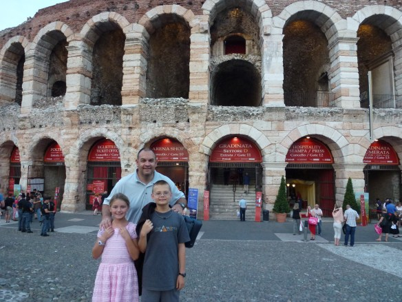 Aida Opera at Roman Theater - Verona, Italy