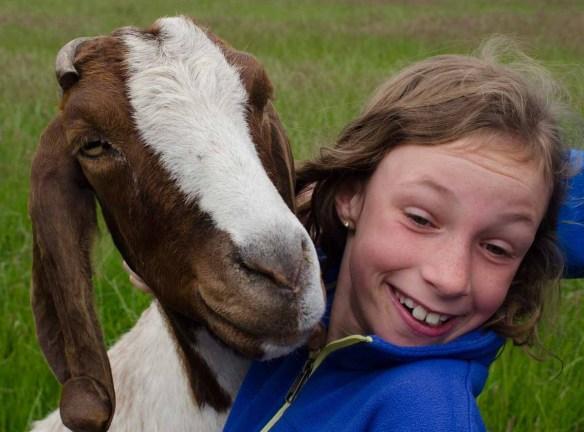 Sydney and goat - Amsterdam