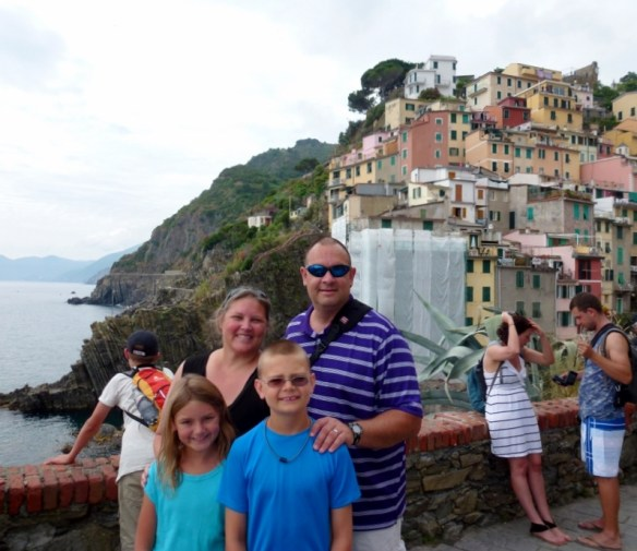 Wagoners Abroad at the tip of Riomaggiore