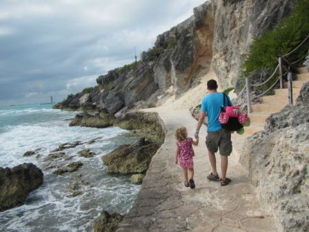 Charles and Jordan walking the paths near Ixchel