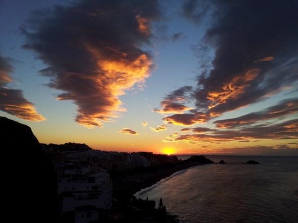 Almuñécar sunrise over San Cristóbal Beach - Instagram Photo