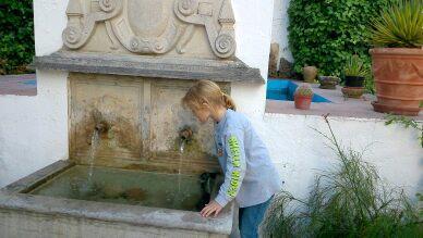 Olivia in the Palacete of Cazulas en Orgiva Spain