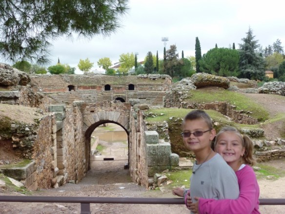 Merida Spain - Roman Ruins WagonersAbroad learning Spanish and living in Spain