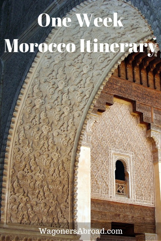 What happens when you plan a one week Morocco itinerary and Mother Nature has something else in mind? You get to see two, a Morocco itinerary 7 days each.  Read more on WagonersAbroad.com