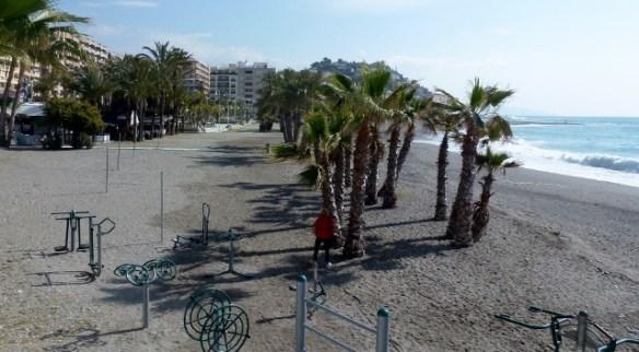 Exercise area along the Paseo del Altillo