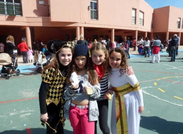 Carnaval at school Almunecar Spain 2014