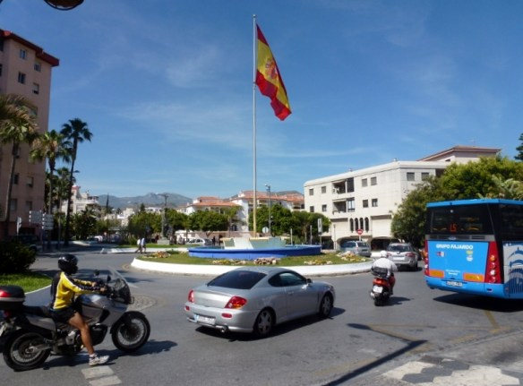 Renting a car in Spain - Almuñécar Spain - Around town Main Roundabout