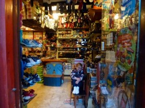 Almuñécar Spain - Local kids shoe store