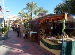 Almuñécar Spain - Medieval Market along Paseo del Altillo (2)