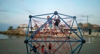 Calpe Spain - playground at the beach