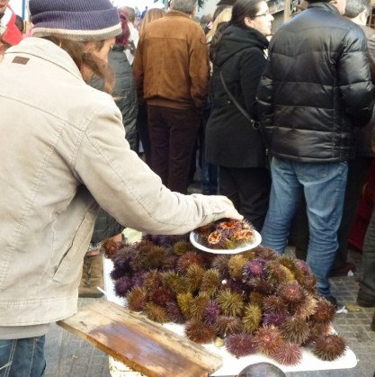 Food in Cadiz Spain - Carnaval Food Sea Urchins