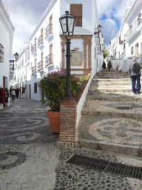 Frigiliana, Spain Main Street shared with cars and pedestrians