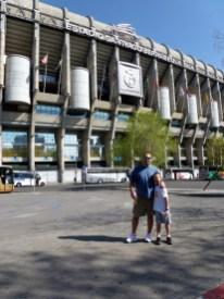 Madrid Spain - Santiago Bernabeu Futbol Stadium