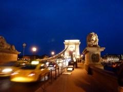 Night Walk Danube River - Budapest Hungary The Chain Bridge on the Buda Side