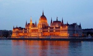 Night Walk Danube River - Budapest Hungary The House of Parliament