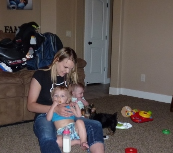 Larissa and kids - Utah June 2014