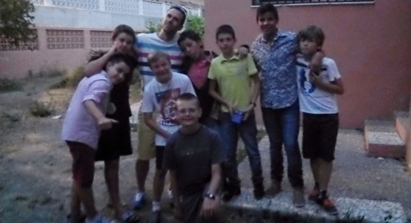 Lars his Teacher and Buddies -Last Day of School Almunecar Spain June 2014