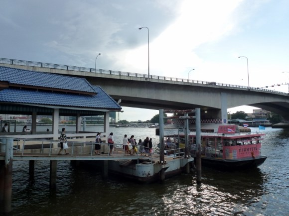 Roaming around Bangkok water taxi